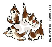 cartoon character of funny dog. ... | Shutterstock .eps vector #488887645