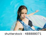 young sexy woman or girl with... | Shutterstock . vector #488888071