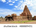 tanjore big temple ... | Shutterstock . vector #488889451