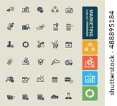 marketing icon set. vector   Shutterstock .eps vector #488895184