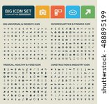 big icon set design clean... | Shutterstock .eps vector #488895199