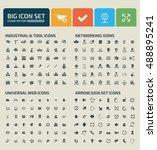 big icon set design clean... | Shutterstock .eps vector #488895241