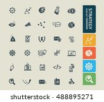 strategy and business icon set.... | Shutterstock .eps vector #488895271