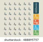 engineering icon set vector | Shutterstock .eps vector #488895757