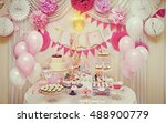 delicious sweet buffet with... | Shutterstock . vector #488900779