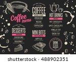 coffee menu placemat food... | Shutterstock .eps vector #488902351
