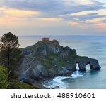 doniene gaztelugatxeko... | Shutterstock . vector #488910601