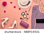 fashion woman clothes... | Shutterstock . vector #488914531