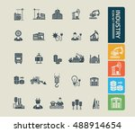 industry icon set vector | Shutterstock .eps vector #488914654