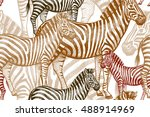 seamless vector pattern with... | Shutterstock .eps vector #488914969
