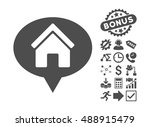 house info balloon icon with... | Shutterstock .eps vector #488915479