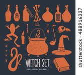 Halloween. Witch Objects....