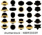 banner black vector icon set on ... | Shutterstock .eps vector #488920339