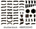 banner black vector icon set on ... | Shutterstock .eps vector #488920345