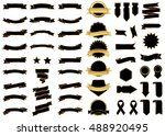 ribbon black vector icon on... | Shutterstock .eps vector #488920495