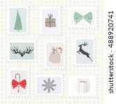 christmas postmark collection.... | Shutterstock .eps vector #488920741