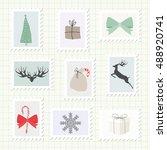 christmas postmark collection.... | Shutterstock .eps vector #488920741