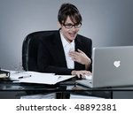 beautiful young caucasian woman ... | Shutterstock . vector #48892381