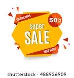 sale banner. | Shutterstock .eps vector #488926909