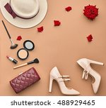 fashion lady accessories set.... | Shutterstock . vector #488929465