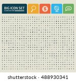 big icon set clean vector | Shutterstock .eps vector #488930341