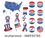 us presidential election 2016. | Shutterstock .eps vector #488930785