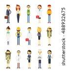 cartoon characters of different ...   Shutterstock . vector #488932675