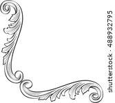 luxury element for best corner... | Shutterstock .eps vector #488932795