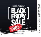 black friday sale banner | Shutterstock .eps vector #488932969