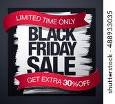 black friday sale banner | Shutterstock .eps vector #488933035