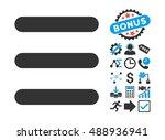 menu items icon with bonus... | Shutterstock .eps vector #488936941