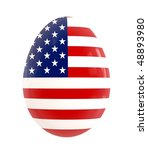 easter egg   usa flag desig | Shutterstock . vector #48893980