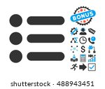 items pictograph with bonus... | Shutterstock .eps vector #488943451
