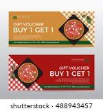 gift voucher template for food... | Shutterstock .eps vector #488943457