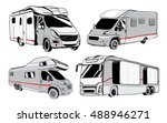 cars recreational vehicles... | Shutterstock .eps vector #488946271