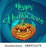 halloween pumpkin | Shutterstock .eps vector #488951479