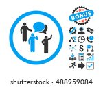 forum persons icon with bonus... | Shutterstock .eps vector #488959084