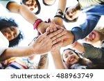 college students teamwork... | Shutterstock . vector #488963749