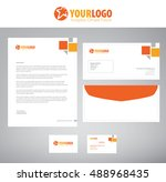 white classic corporate... | Shutterstock .eps vector #488968435