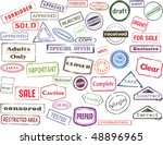 set of colored stamp prints | Shutterstock . vector #48896965