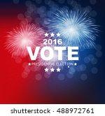 presidential election vote 2016 ... | Shutterstock .eps vector #488972761