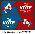 presidential election vote 2016 ... | Shutterstock .eps vector #488972779