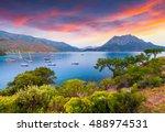 picturesque mediterranean... | Shutterstock . vector #488974531