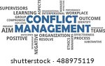 a word cloud of conflict... | Shutterstock .eps vector #488975119