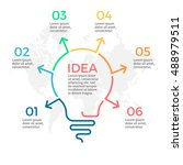 light bulb infographic. idea... | Shutterstock .eps vector #488979511