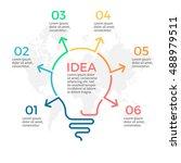 light bulb infographic. idea...   Shutterstock .eps vector #488979511