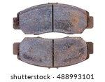 set of old worn rusting brake... | Shutterstock . vector #488993101