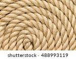 rope background texture neatly... | Shutterstock . vector #488993119