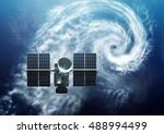 weather satellite orbiting... | Shutterstock . vector #488994499