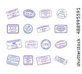 bitmap international travel... | Shutterstock . vector #488995591